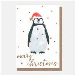 10 kerstkaartjes caroline gardner - merry christmas - pinguin | muller wenskaarten