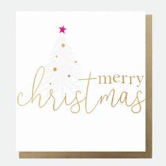 8 luxe kerstkaarten caroline gardner - merry christmas - kerstboom