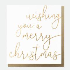 8 luxe kerstkaarten caroline gardner - wishing you a merry christmas