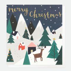 8 luxe kerstkaarten caroline gardner - merry christmas - winterlandschap