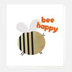 wenskaart caroline gardner - bee happy - bij