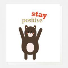 wenskaart caroline gardner - stay positive