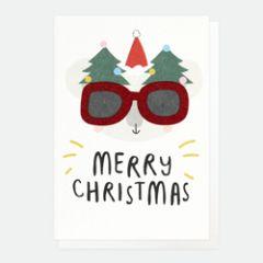 10 kerstkaartjes caroline gardner - merry christmas - koala met bril