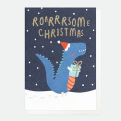 10 kerstkaartjes caroline gardner - roarsome christmas - dinosaurus