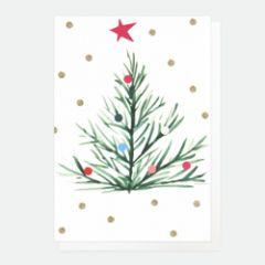 10 kerstkaartjes caroline gardner - kerstboom met stippen