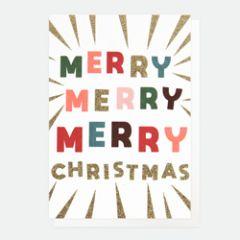 10 kerstkaartjes caroline gardner - merry merry merry christmas