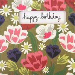 verjaardagskaart caroline gardner - happy birthday - bloemen