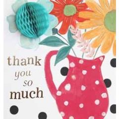 3d wenskaart caroline gardner - pompom - thank you so much