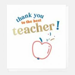 wenskaart caroline gardner - thank you to the best teacher - appel
