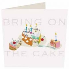 wenskaart caroline gardner - bring on the cake