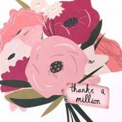 wenskaart caroline gardner - thanks a million - bloemen