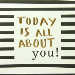 wenskaart caroline gardner - today is all about you!