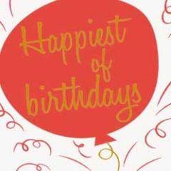 verjaardagskaart caroline gardner - neon - happiest of birthdays