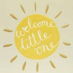 geboortekaartje caroline gardner - welcome little one - zon