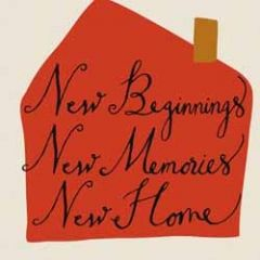 wenskaart caroline gardner - new beginnings memories home