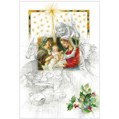 6 christelijke kerstkaarten busquets - 2 | muller wenskaarten