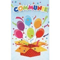 wenskaart communie - ballonnen