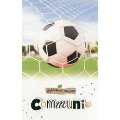 felicitatiekaart - gefeliciteerd met jouw communie - voetbal