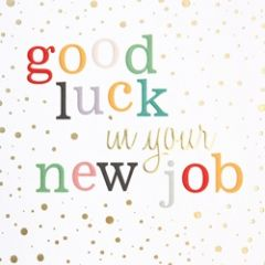 wenskaart caroline gardner - confetti - good luck in your new job