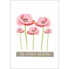 condoleancekaart - met oprechte deelneming - bloemen