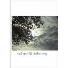 condoleancekaart - met oprechte deelneming - wolken