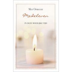 condoleancekaart - met oprecht medeleven in deze moeilijke tijd