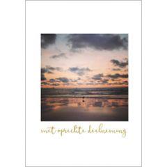 condoleancekaart - met oprechte deelneming - zonsondergang