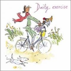 wenskaart woodmansterne corona - daily exercise - quentin blake