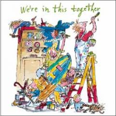 wenskaart woodmansterne corona - we 're in this together - quentin blake