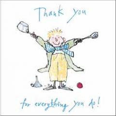 wenskaart woodmansterne corona - thank you for everything you do! - quentin blake