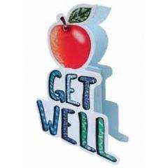 3d beterschapskaart paper dazzle - get well - appel