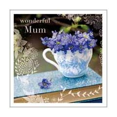 moederdagkaart woodmansterne - wonderful mum with love - bloemen