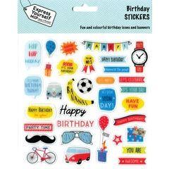 stickers - birthday boy
