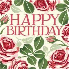 verjaardagskaart woodmansterne - happy birthday - rozen