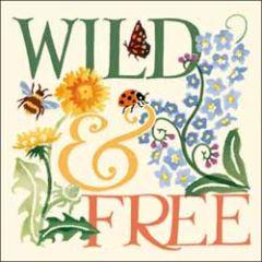 wenskaart woodmansterne - wild & free - bloemen
