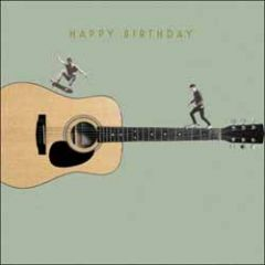 verjaardagskaart woodmansterne - happy birthday - gitaar