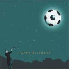 verjaardagskaart woodmansterne - happy birthday - voetbal