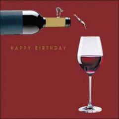 verjaardagskaart woodmansterne - happy birthday - wijn