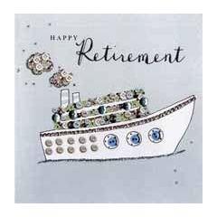 luxe pensioenkaart - happy retirement - boot