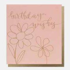 wenskaart caroline gardner - birthday wishes - bloemen