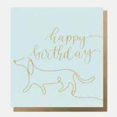 wenskaart caroline gardner - happy birthday - hond