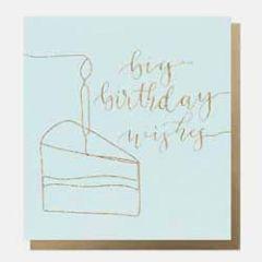 wenskaart caroline gardner - big birthday wishes - cake