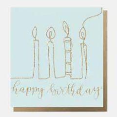 wenskaart caroline gardner - happy birthday - kaarsjes
