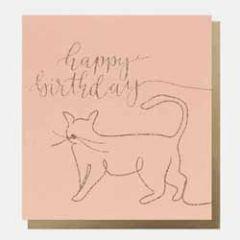 verjaardagskaart caroline gardner - happy birthday - kat