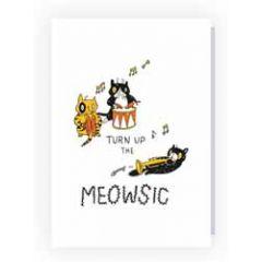 wenskaart pablo - turn up the meowsic