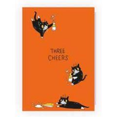 wenskaart pablo de kat - three cheers - melk