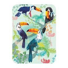 santoro eclectic cards -  toekan vogels