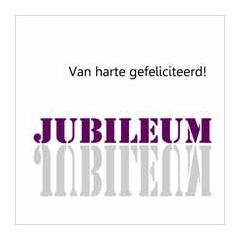 wenskaart spiegel - van harte gefeliciteerd!  jubileum