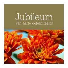 felicitatiekaart jubileum - van harte gefeliciteerd! - bloemen
