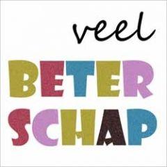 beterschapskaart - veel beterschap - letters